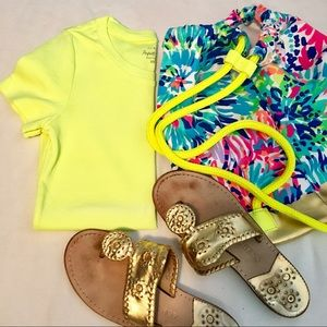 J. Crew Perfect Fit Neon Yellow T-shirt